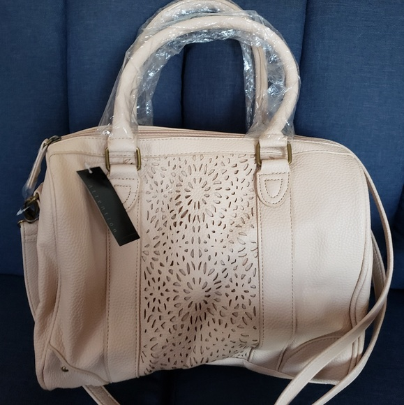 Handbags - Beige/Cream Colored Satchel Handbag